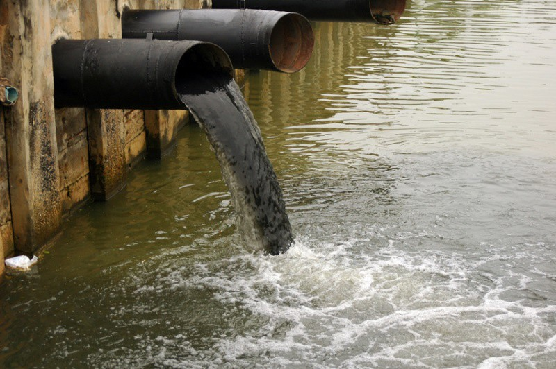 Industrial waste, water pollution